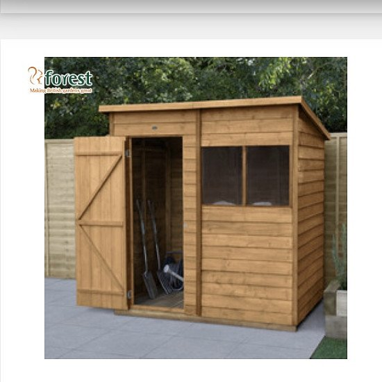 Forest Garden Overlap Dip Treated Shed 6' x 4'