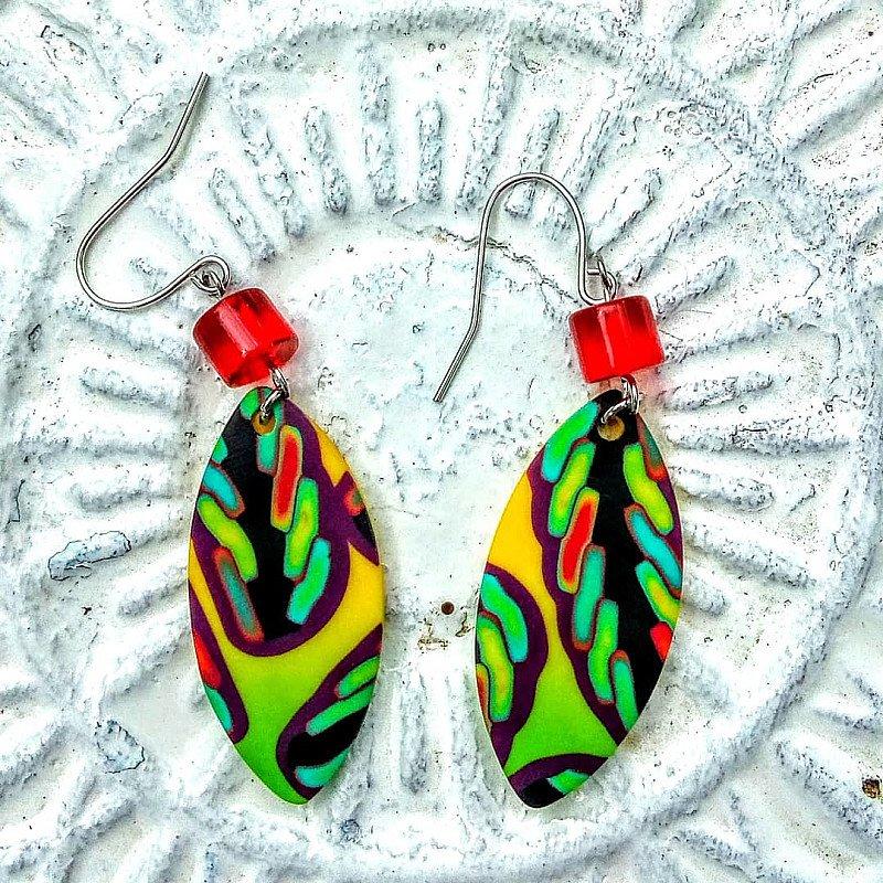 Colourful handmade earrings