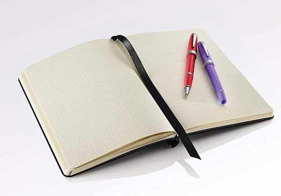 SAVE -  Dotted Journal Gift Set with Two Bailey Light Rollerball Pens