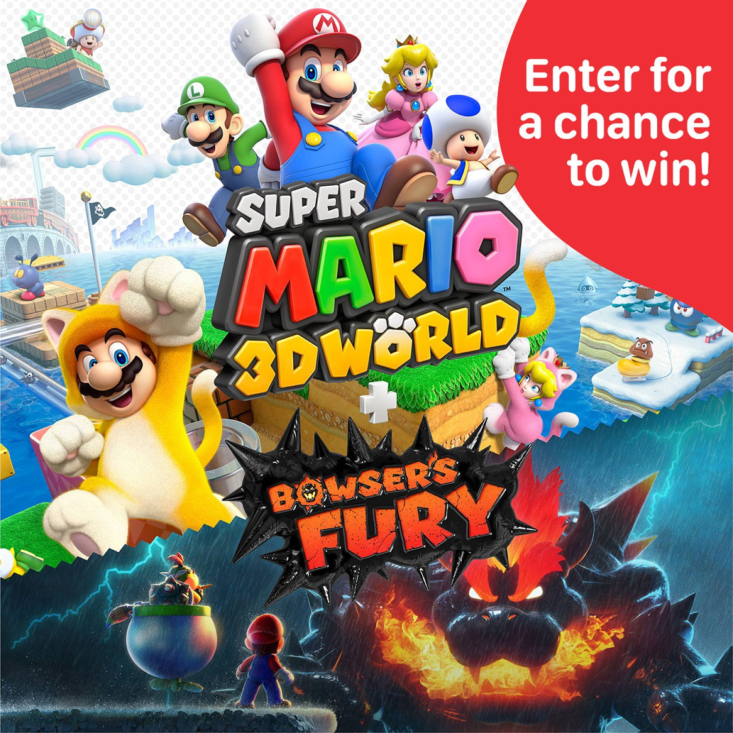 WIN a copy of Super Mario 3D World + Bowser's Fury