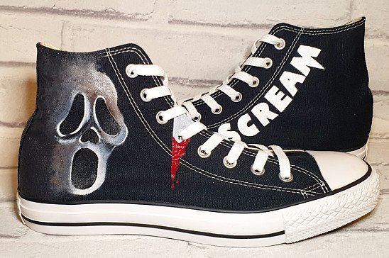 Scream Converse High Tops