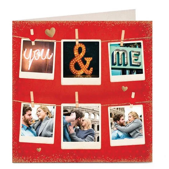 Personalised Valentine's Photo Card - You & Me - £2.79!