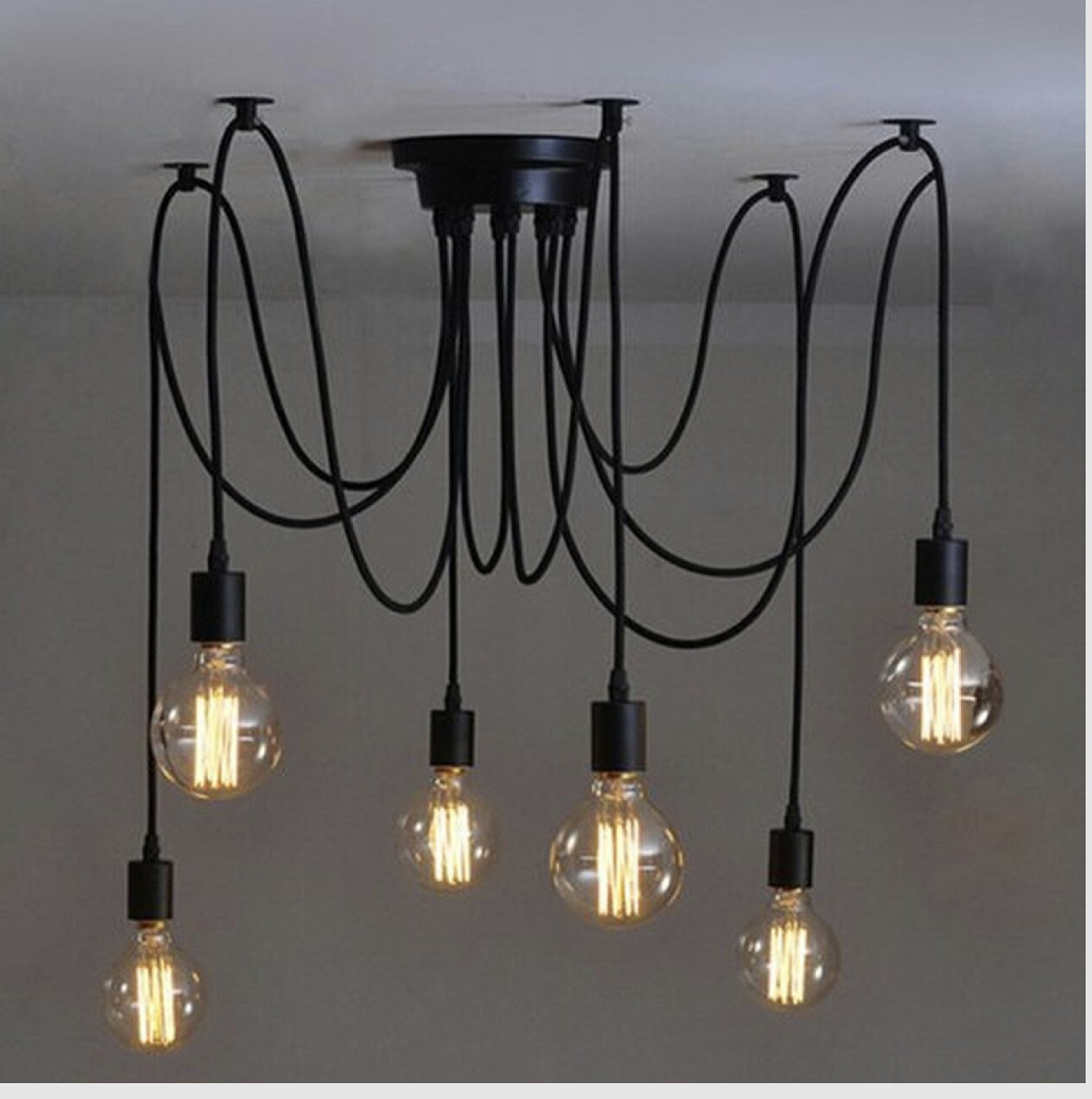 Vintage Industrial Style Chandelier Pendant Lights With 6 Heads