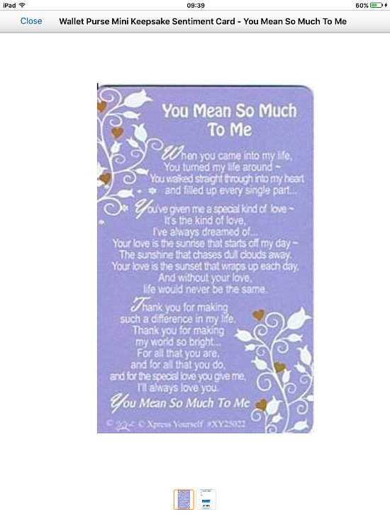 Laminated graveside cards