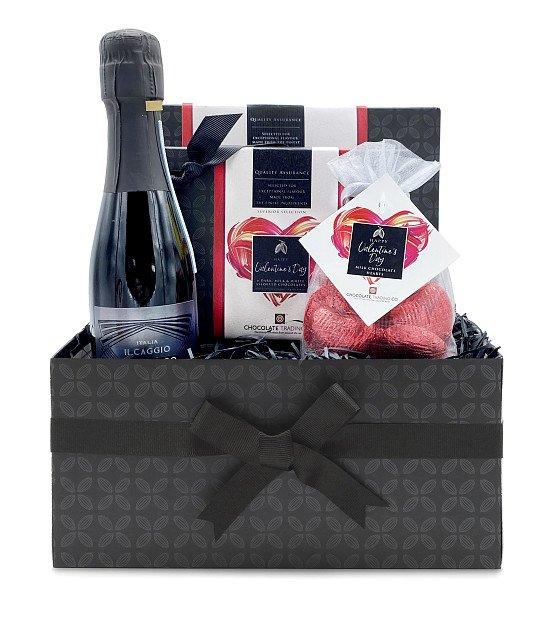 NEW - Valentine's Day Chocolate and Prosecco Mini Hamper: £22.30!