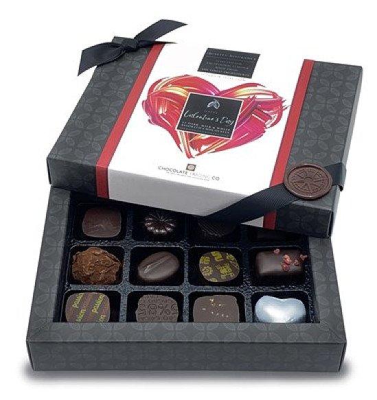 NEW - Valentine's 12 Mostly Dark Chocolate Gift Box: £13.95!
