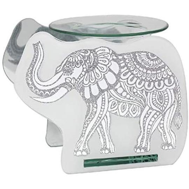 Glass Elephant Wax Oil Warmer