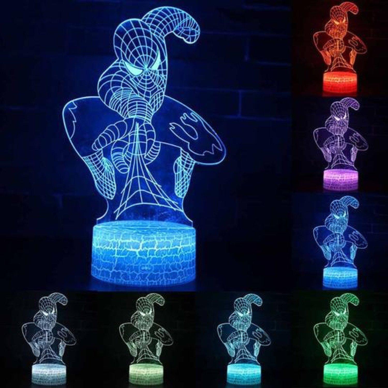 3D Super Hero Spiderman 7 Colour Changing LED Night Light