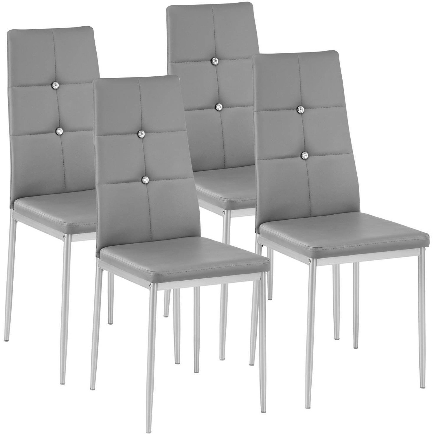Set of 4 Glam Grey Dining Chairs £113 - 7 FIVE STAR REVIEWS on our website
