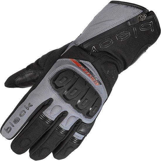 SAVE - Black Voyage Waterproof Leather Motorcycle Gloves