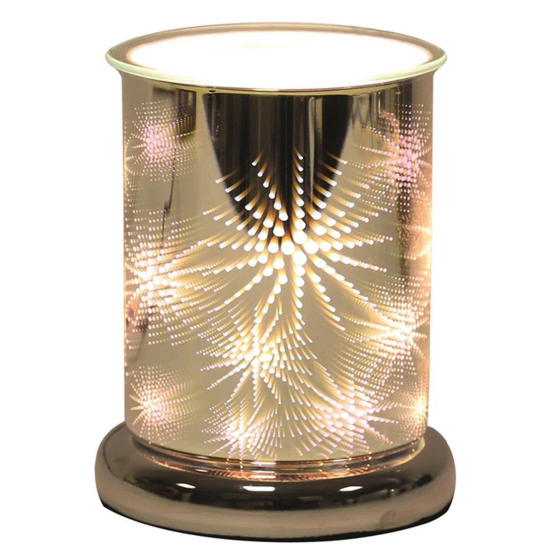 (Firework - Cylinder) Oval 3D Lights Scented Aroma Wax Burner £29.99 Free Postage