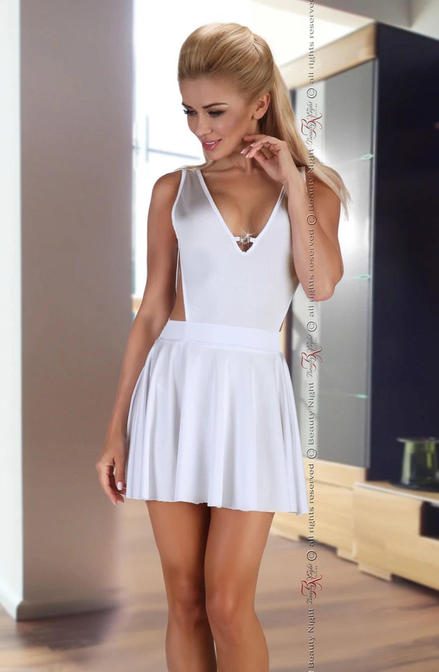 Severine White Dress Free Postage