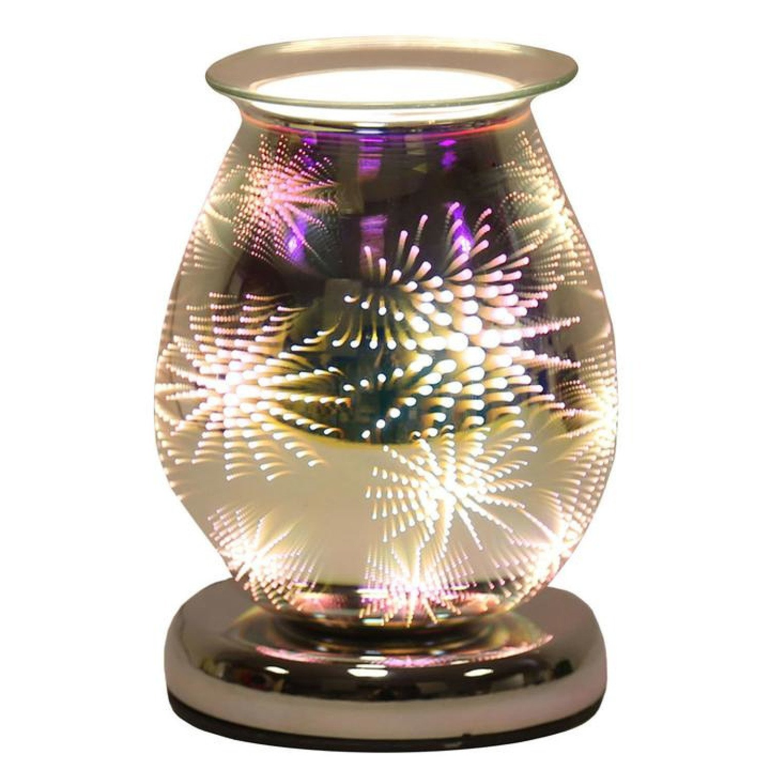 Firework - Oval) Oval 3D Lights Scented Aroma Wax Burner Electric Touch Lamp