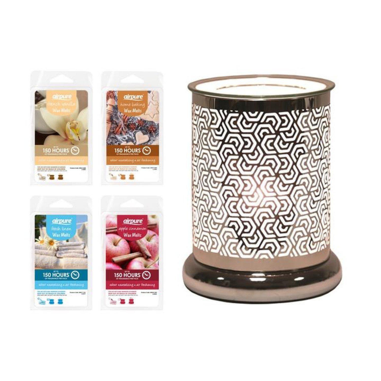 Hexagonal Cylinder - Wax Melt Burner Includes Pack of Wax Melts