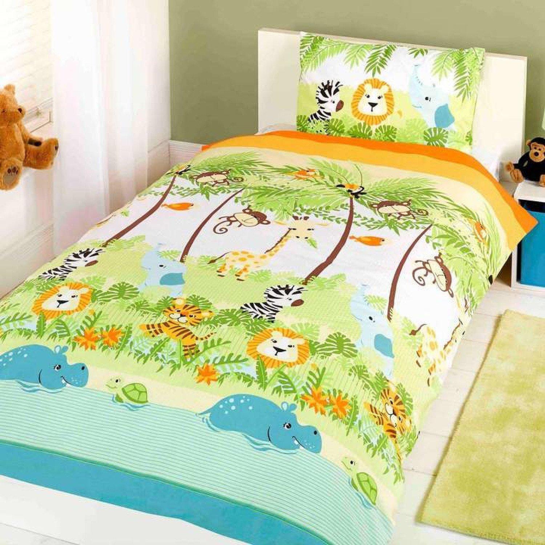 Jungle Boogie Green Kids Duvet Cover Set