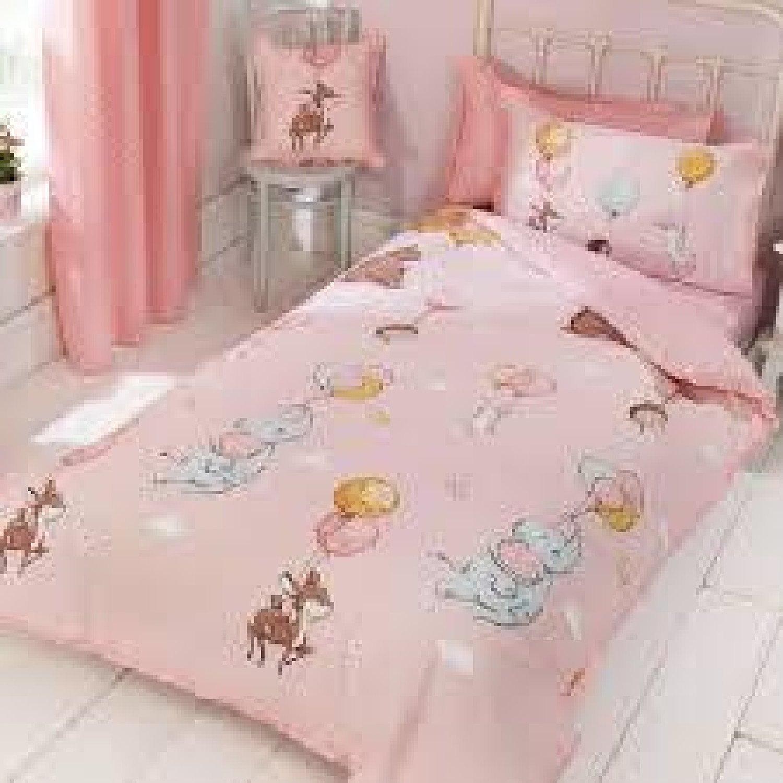 Float Away Frilly Pink Kids Duvet Cover Set
