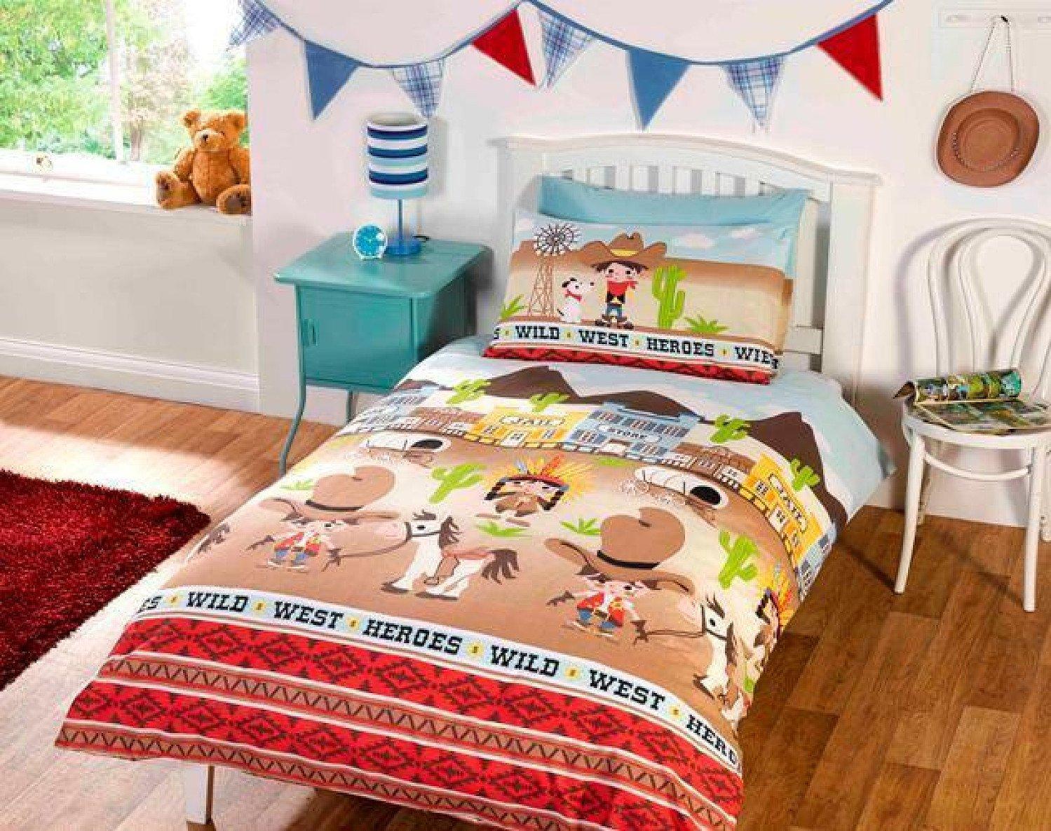 Children's Wild West Single Duvet Cover Bed Set