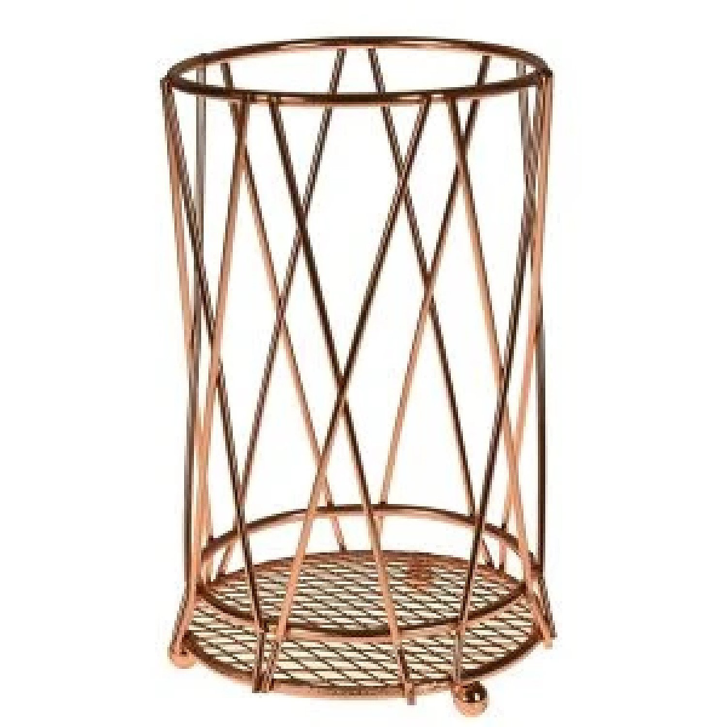Copper Kitchen Accessory Set Fruit Basket Utensil Roll Holder Iron Wire Stand £9.99 Free Postage