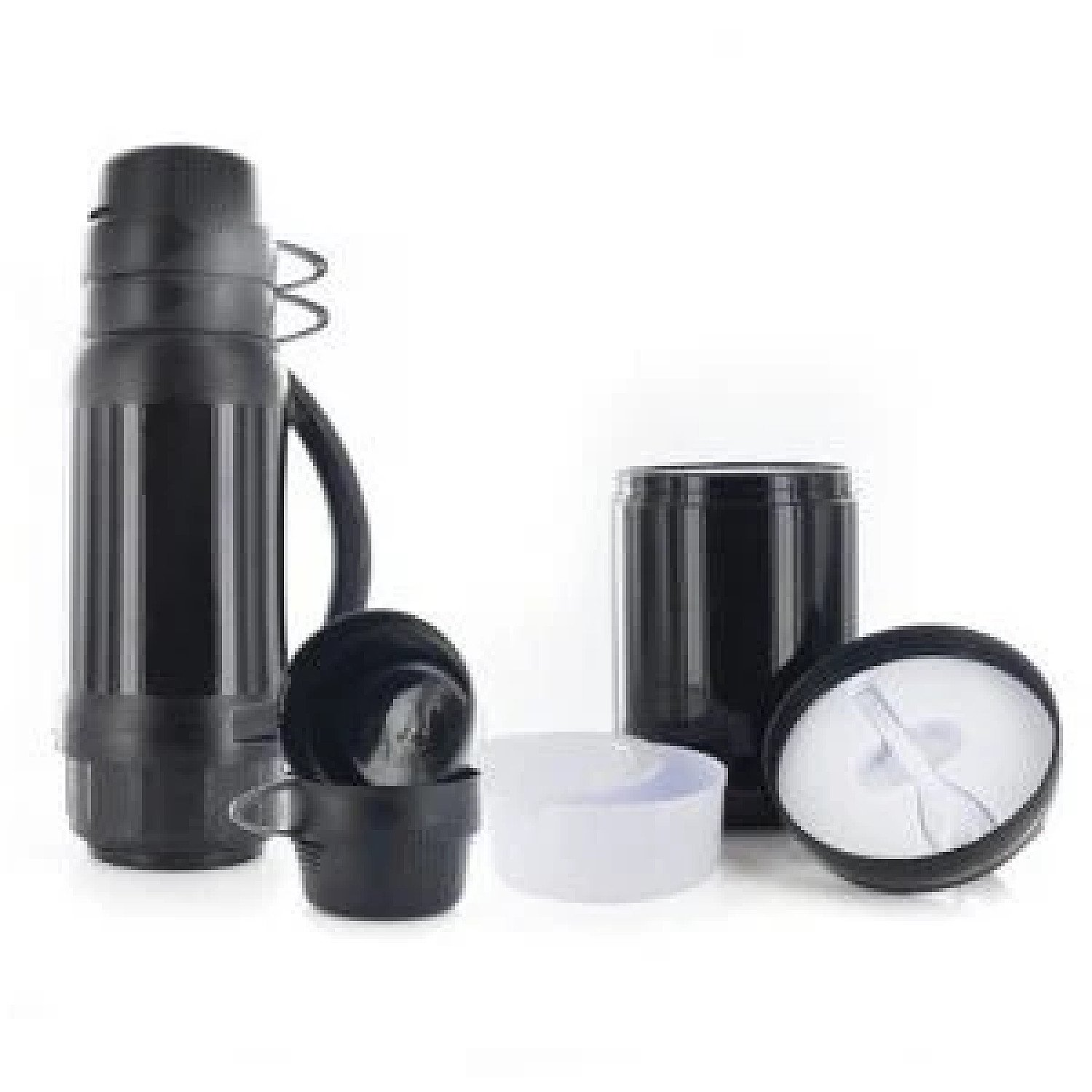 CL 6 Pcs Outdoor Flask Food Container Bottle Cups Bowl Spoon Set Thermos Termos £9.99 Free Postage