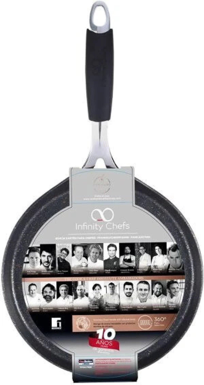 Bergner Premium Non Stick Coating Full Induction 24cm Pancake Crepe & Griddle £17.99 Free Postage