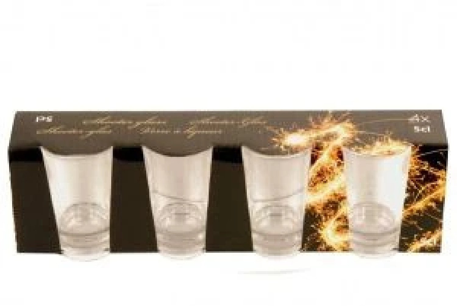 4 Piece Shot Glass Set 5cl for Whisky Vodka Rum Cordials Glasses £12.99 Free Postage