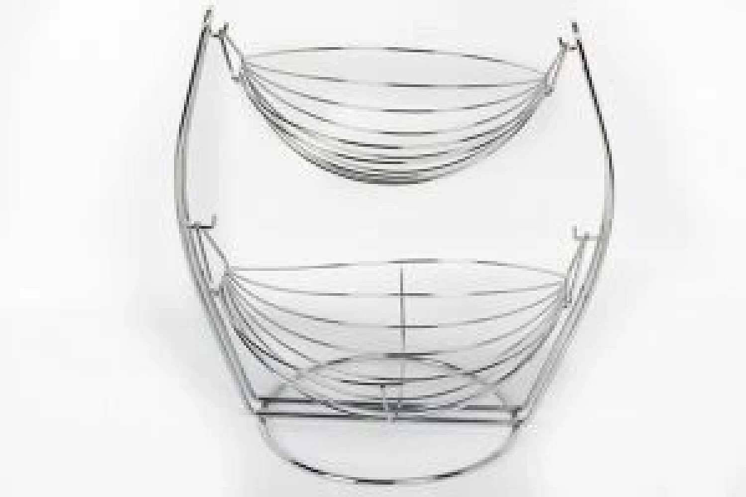 36CM 2 TIER WIRE HANGING BOWL FRUIT VEGETABLE BASKET £23.99 Free Postage