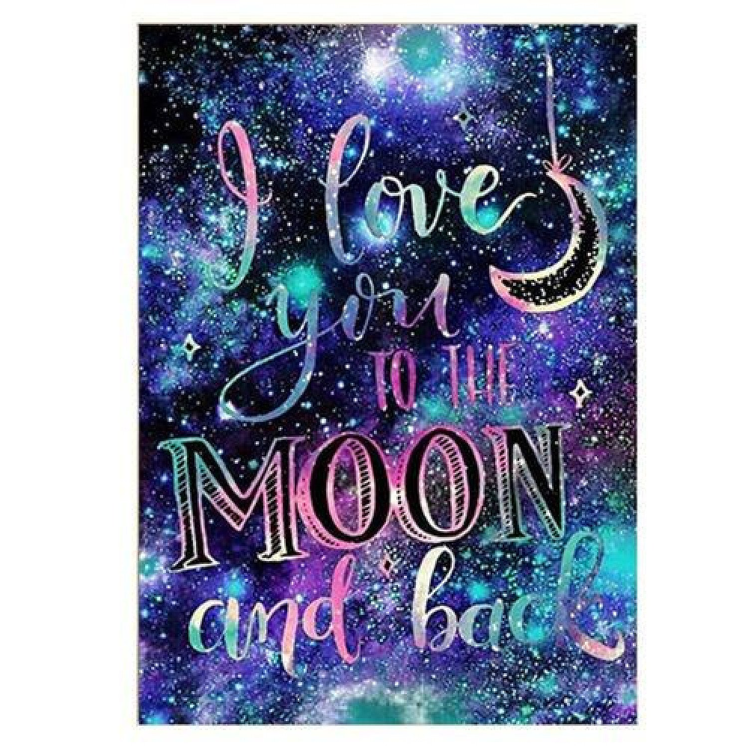 DIY 5D Diamond Painting Galaxy Love Letter Abstract Embroidery Kit