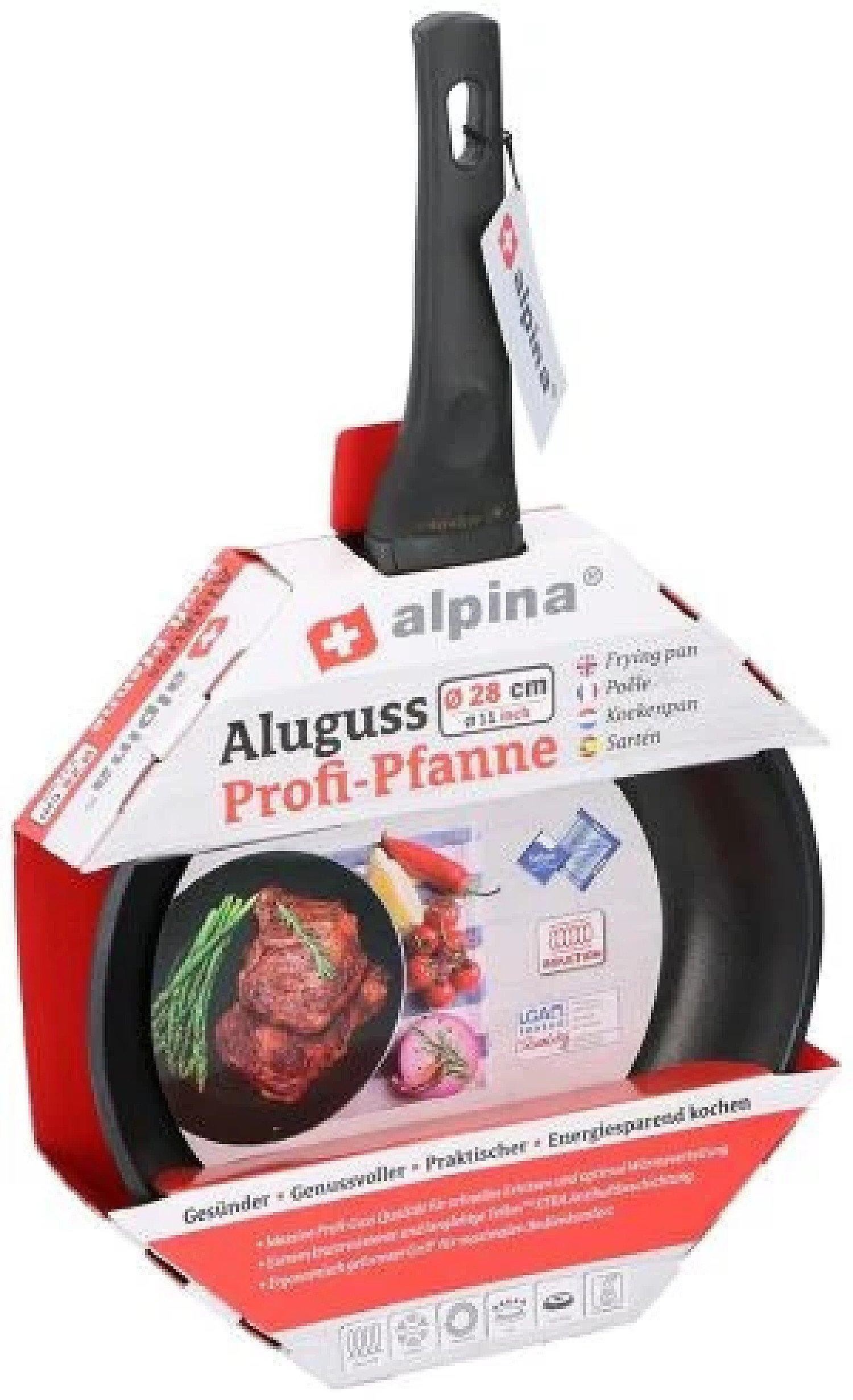 28 cm Frying pan Black aluminium Free Postage