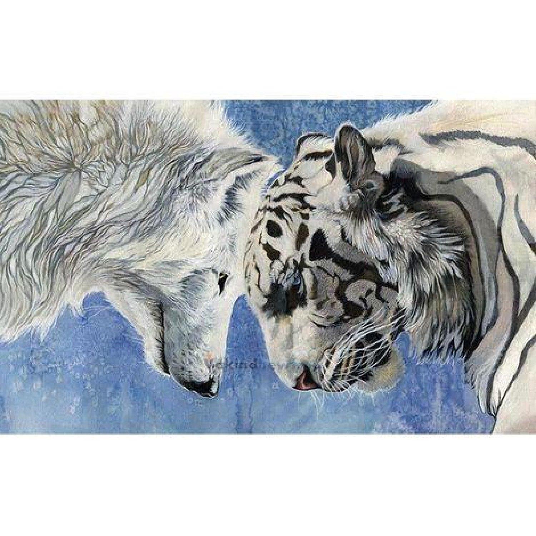 5D Diamond Painting Tiger Wolf Diy Embroidery Cross Stitch Crafts
