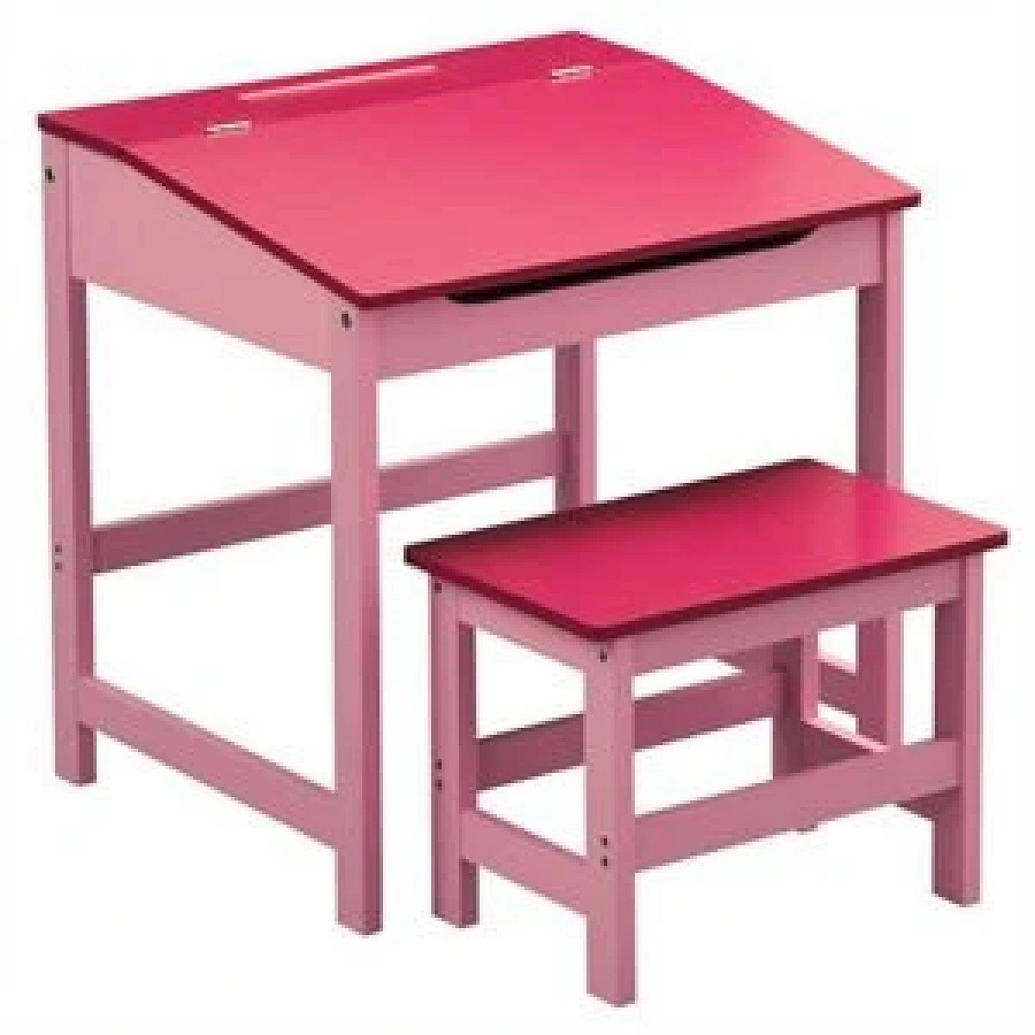 Kids Desk and Stool Set Pink - Free Postage