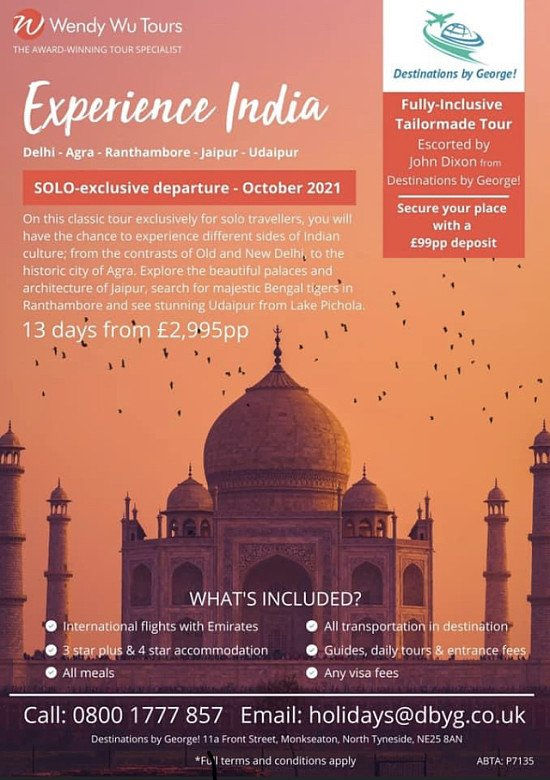India Tour for SOLO Passengers