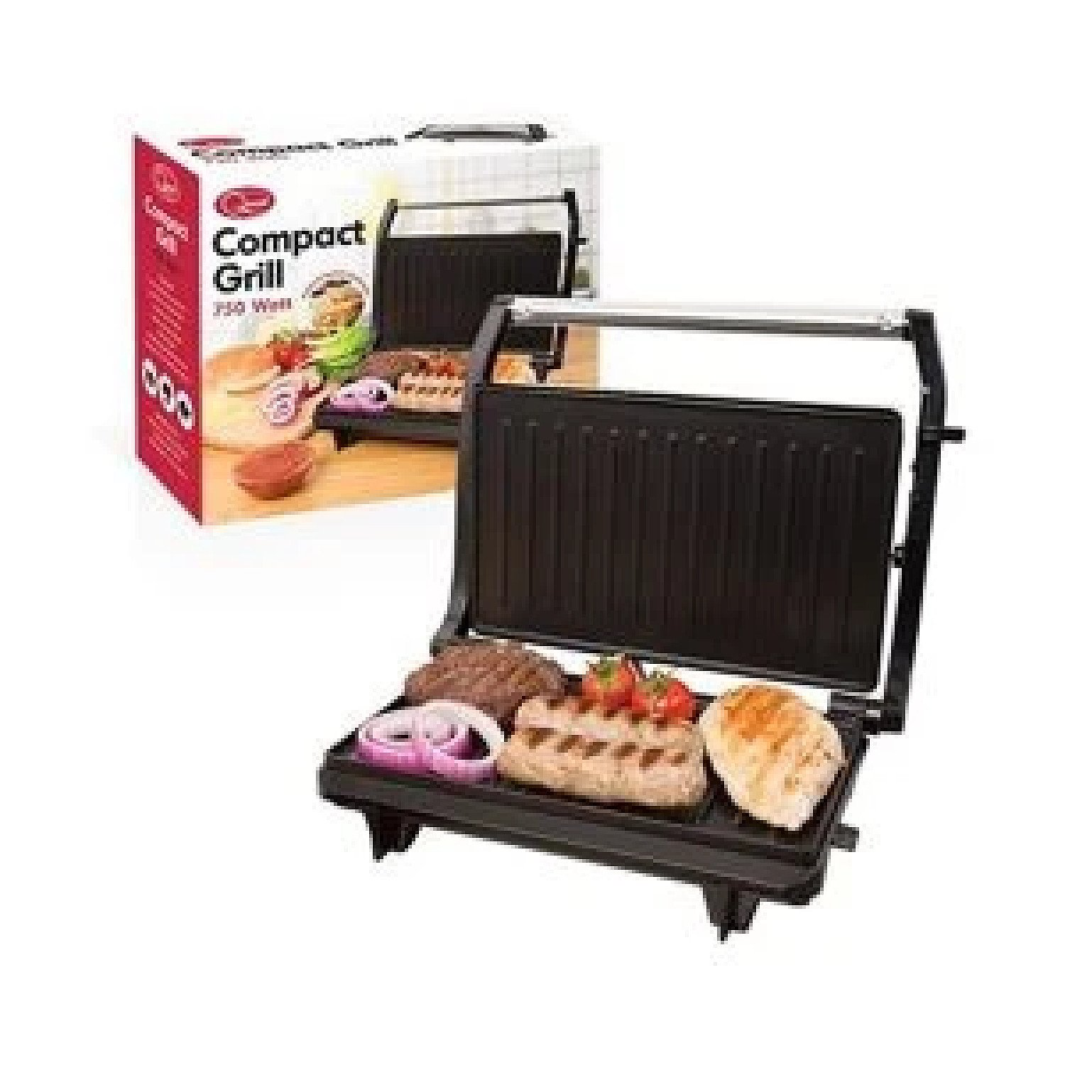 Quest 2 Slice Stainless Steel Compact Panini Press & Grill £29.99 Free Postage