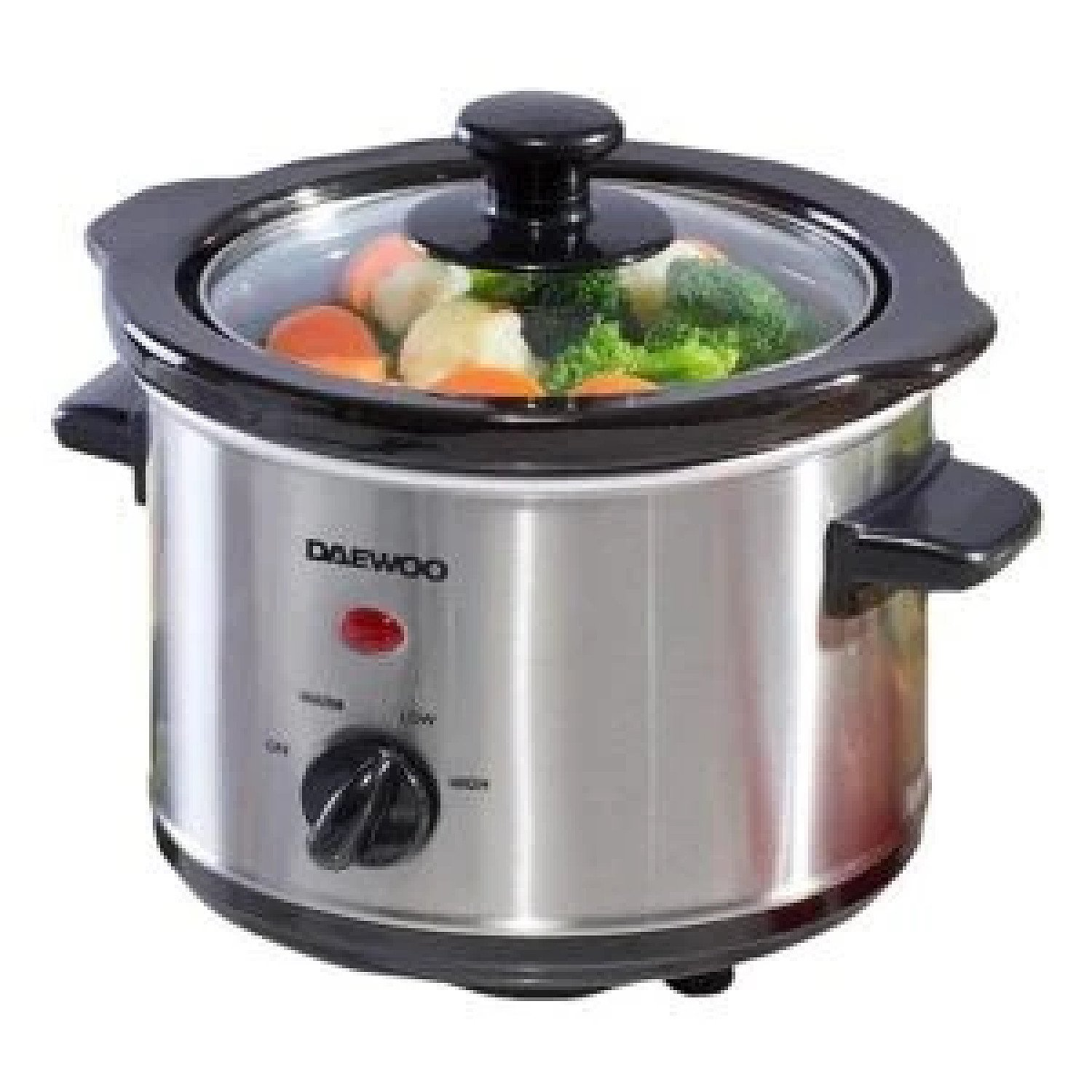 Daewoo 1.5L Compact Manual Slow Cooker Cooking ware - Stainless Steel Free Postage