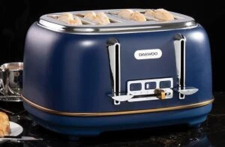 Daewoo Astoria 4 Slice Toaster in Navy Blue Free Postage