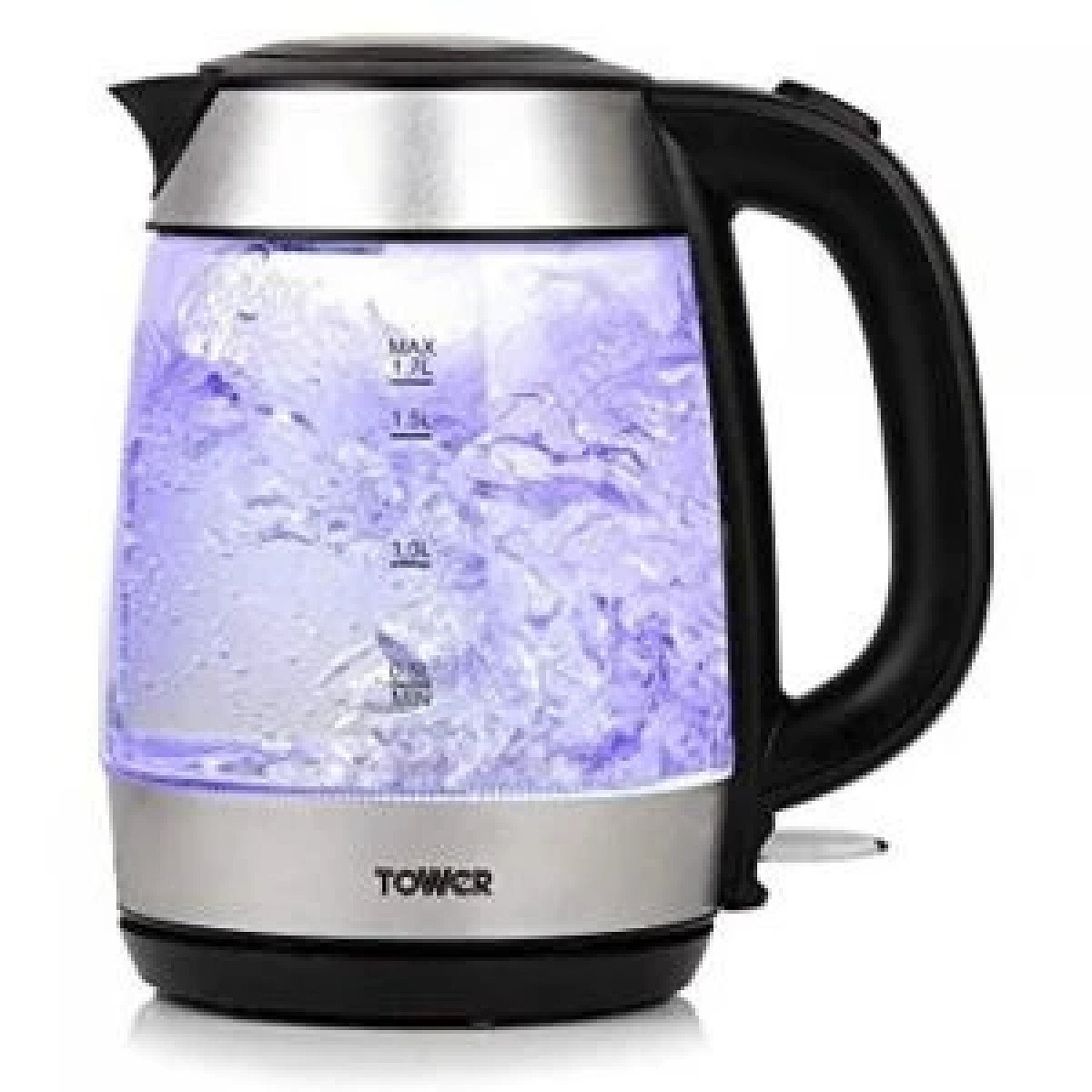 Tower T10040 1.7L Rapid Boil Glass Kettle free postage