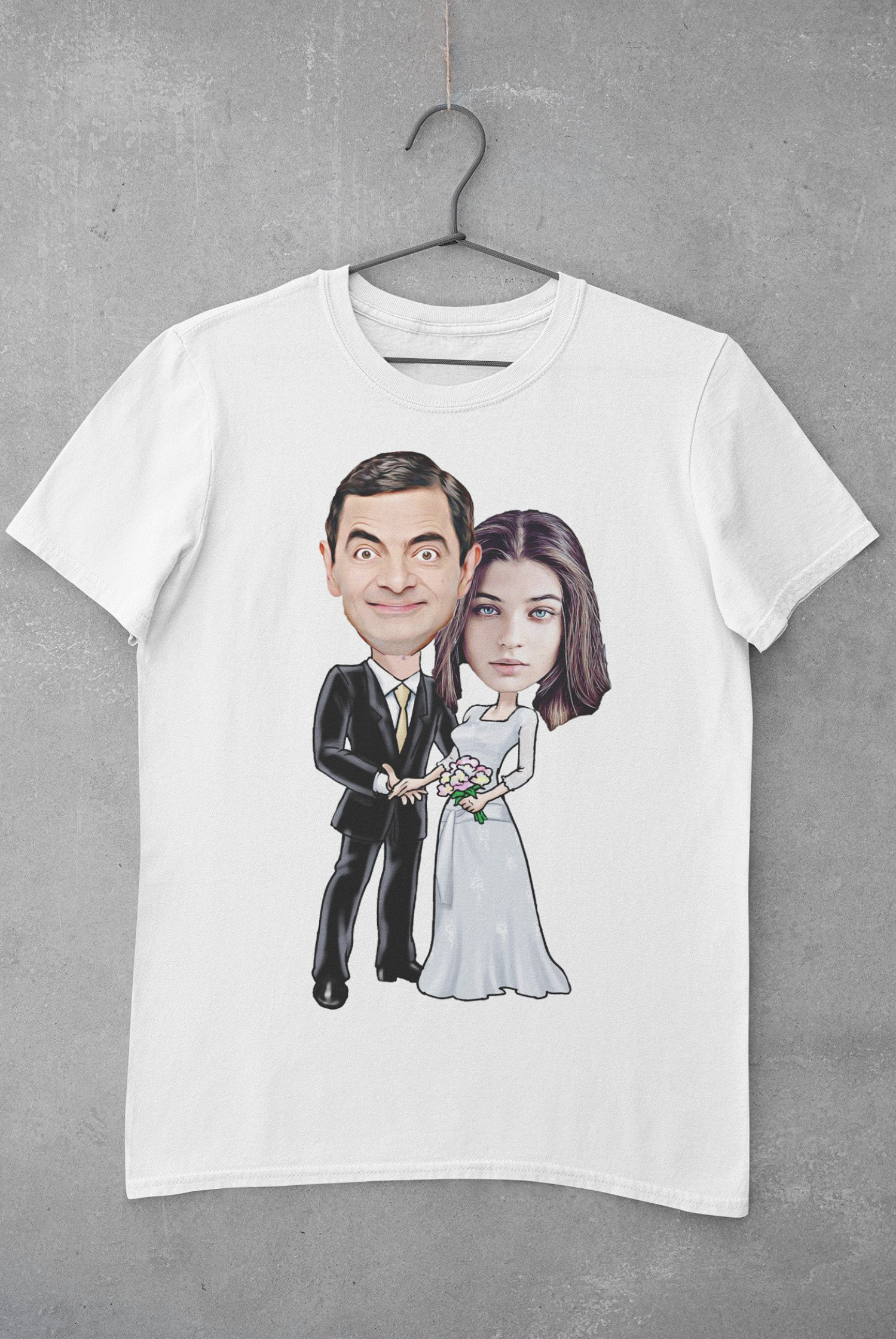 Wedding | Characters Caricature Personalised T-shirt | IBrand