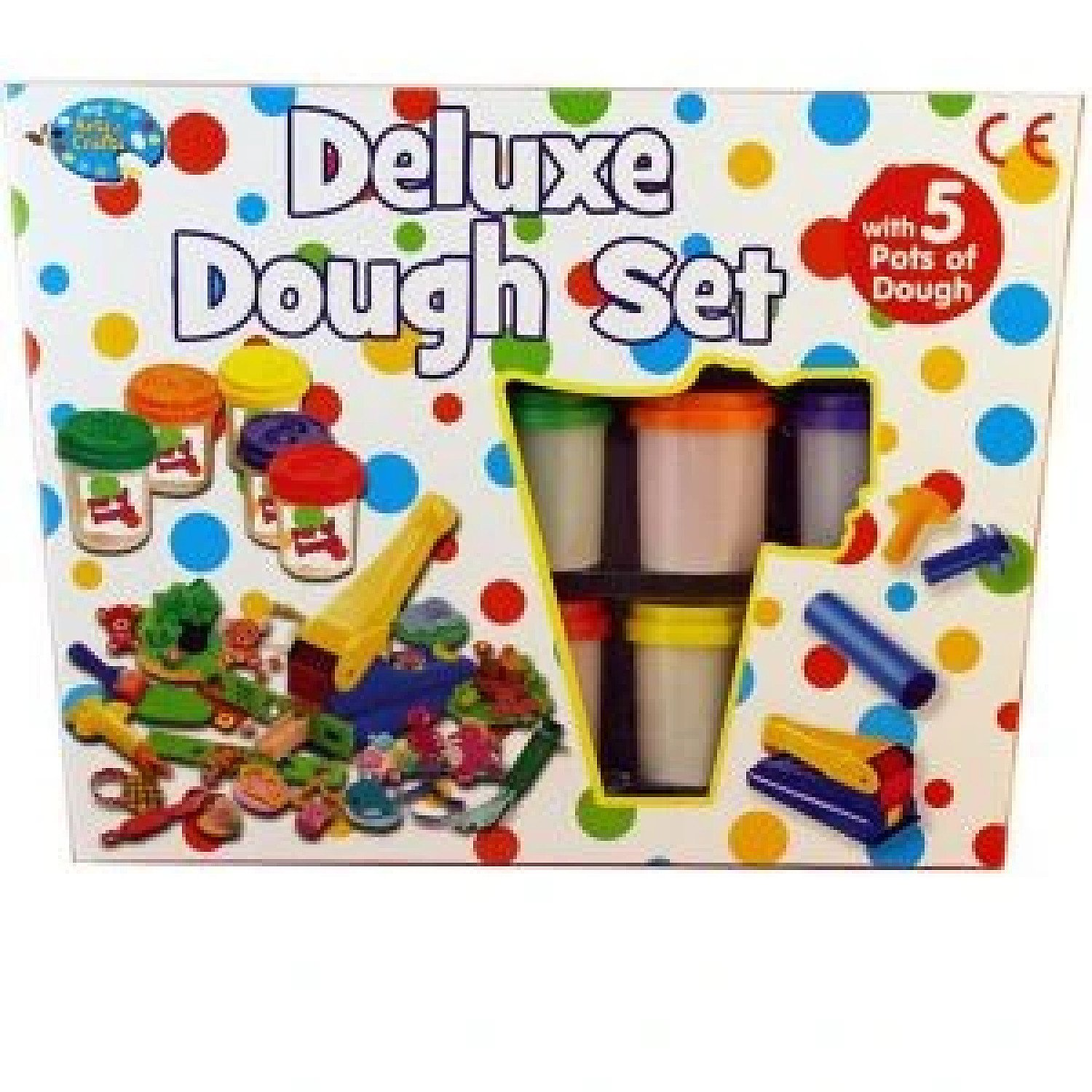 Deluxe Dough Set With 5 Pots Of Dough Kids Art & Craft Modelling Play set Free Postage
