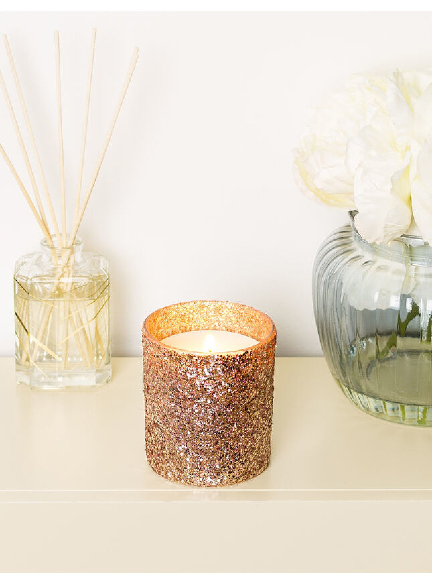 MOTHERS DAY GIFT IDEAS  - Peony blush candle - Rose Gold £10.00!