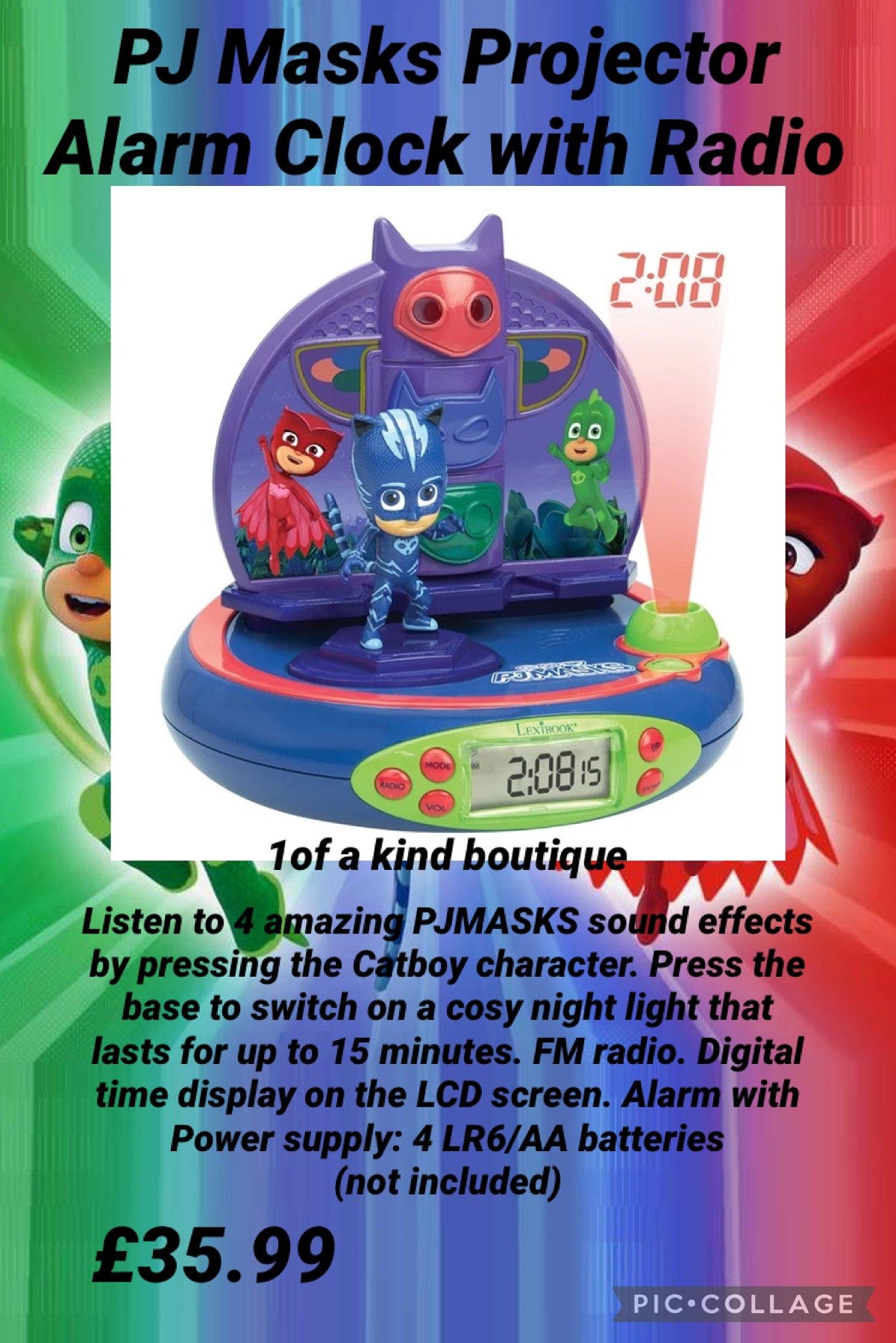 PJ Masks Projector Alarm Clock with Radio Free Postage
