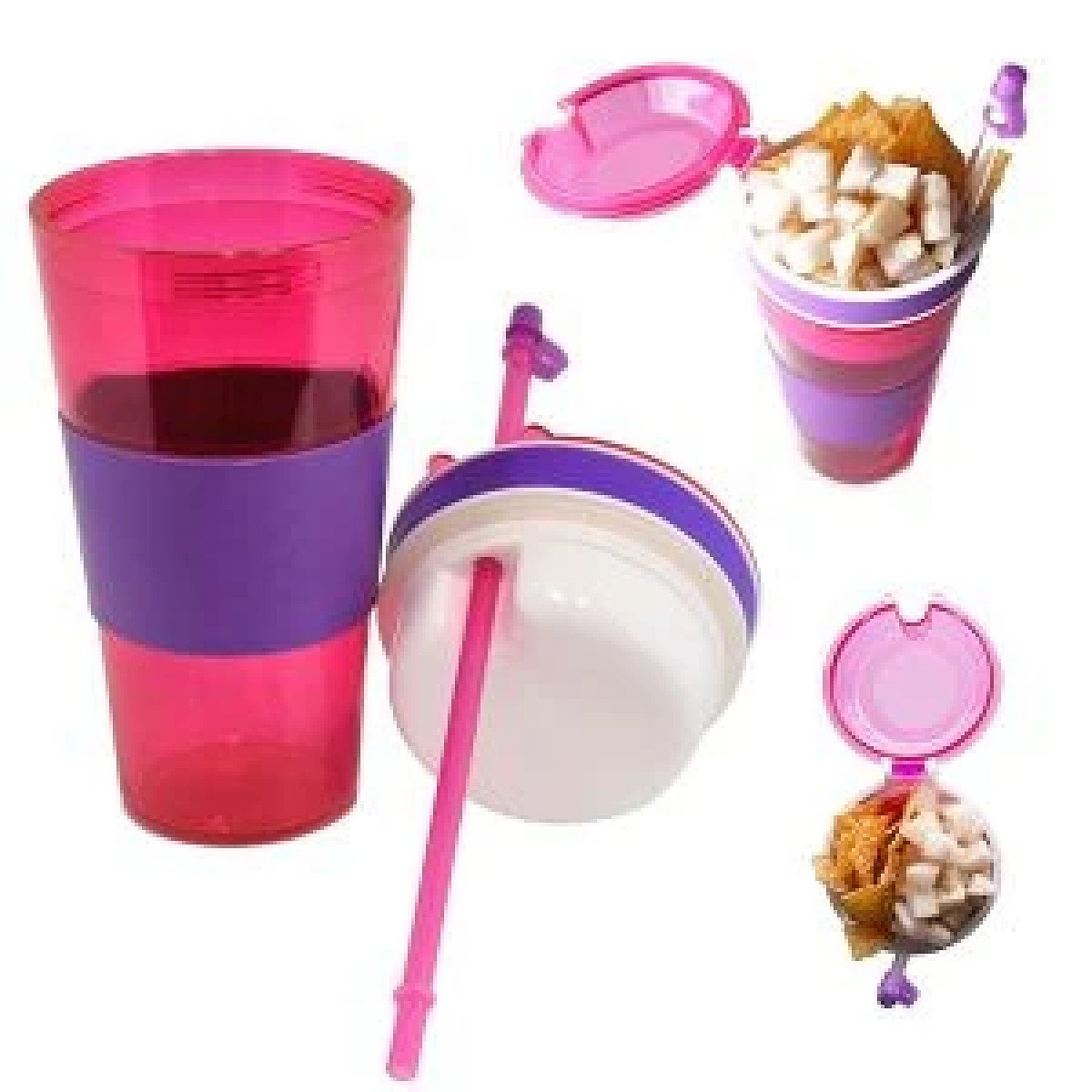 (1.3) Kool Kup - Drink and Snack in One Cup Free Postage
