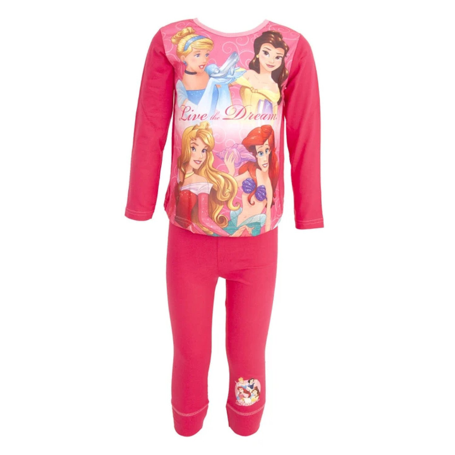 (9-10 Years, Pink) Disney Princess Childrens Girls Top & Bottoms Pyjama Set Free Postage