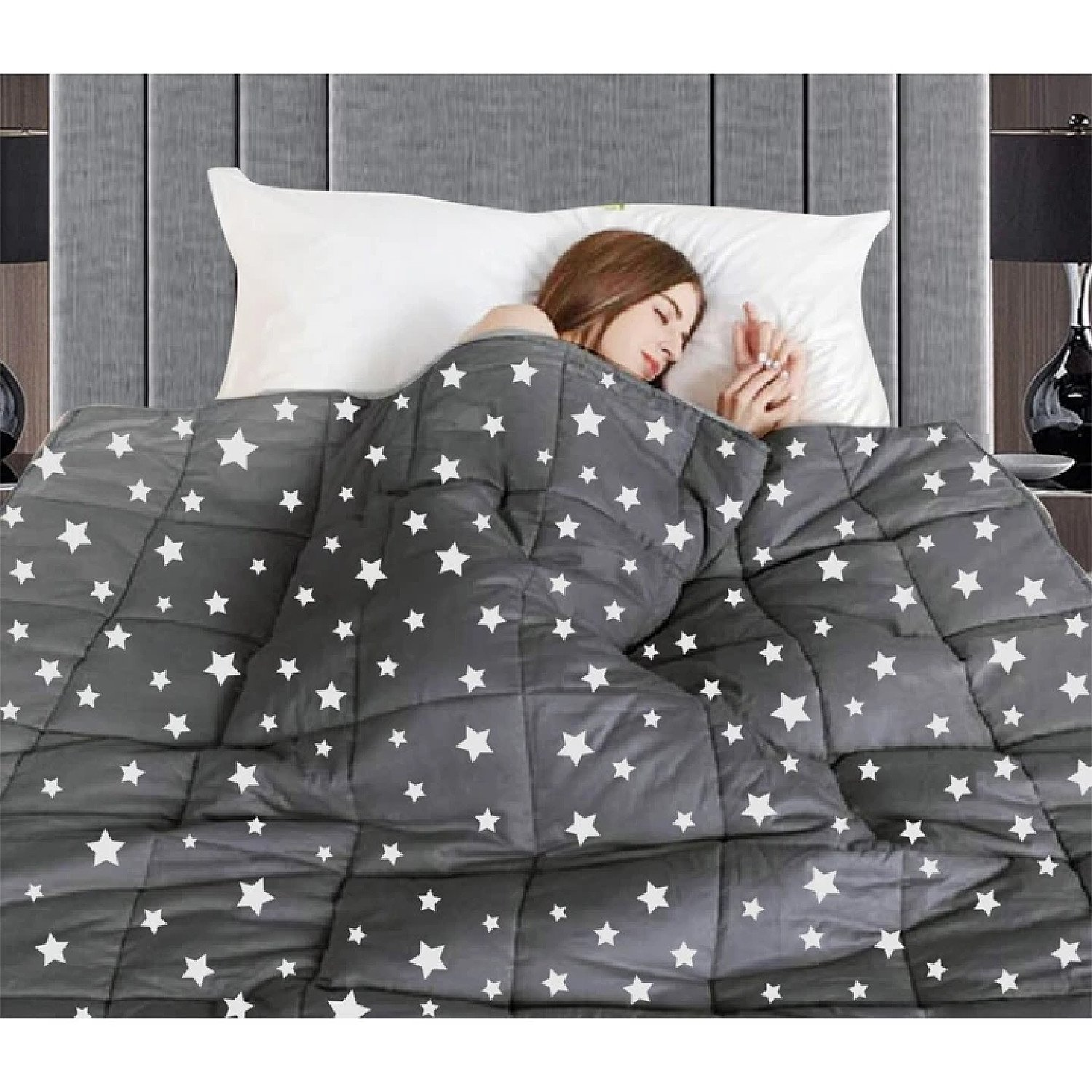 (90 x 120 cms) Stress & Anxiety Releasing Weighted Blanket Free Postage
