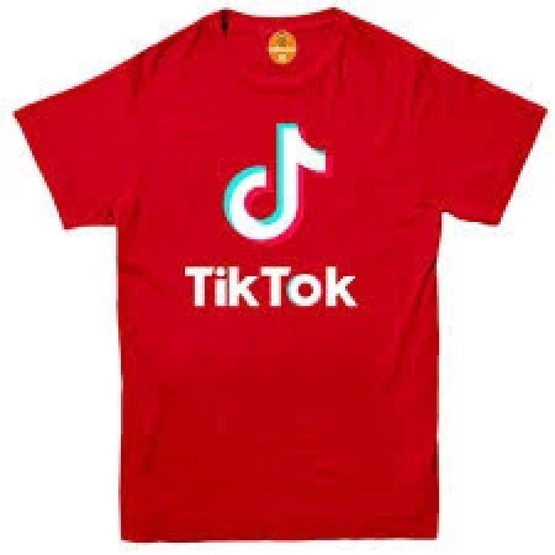 (Red, 2-13Y ) Kids Tik Tok Logo T-Shirt Free Postage