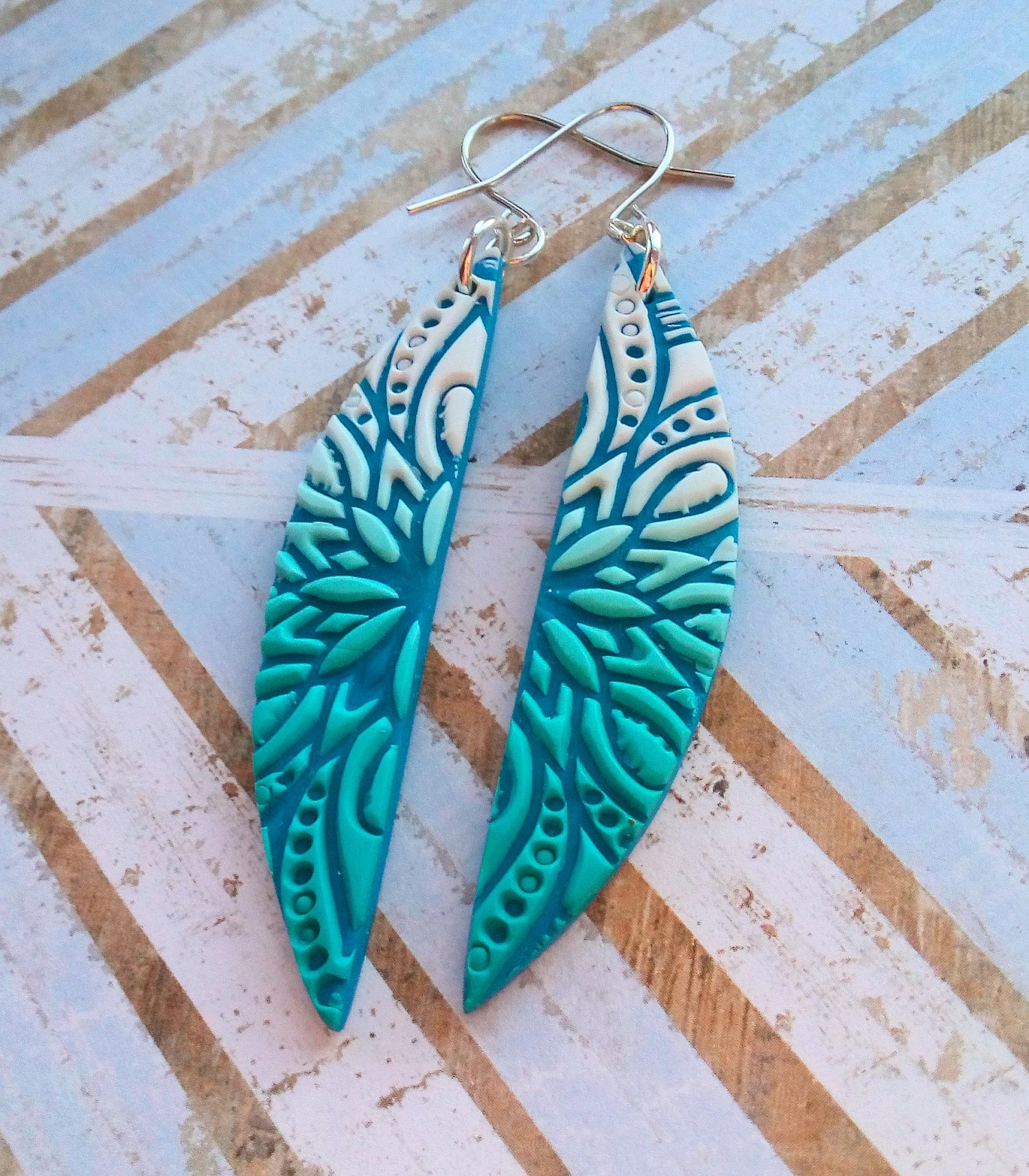 New listing, handmade mandala earrings