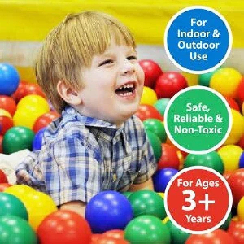 100 Pk Soft Plastic Balls Childrens Ball Pits Kids Multi Coloured Toys Play Pool Free Postage