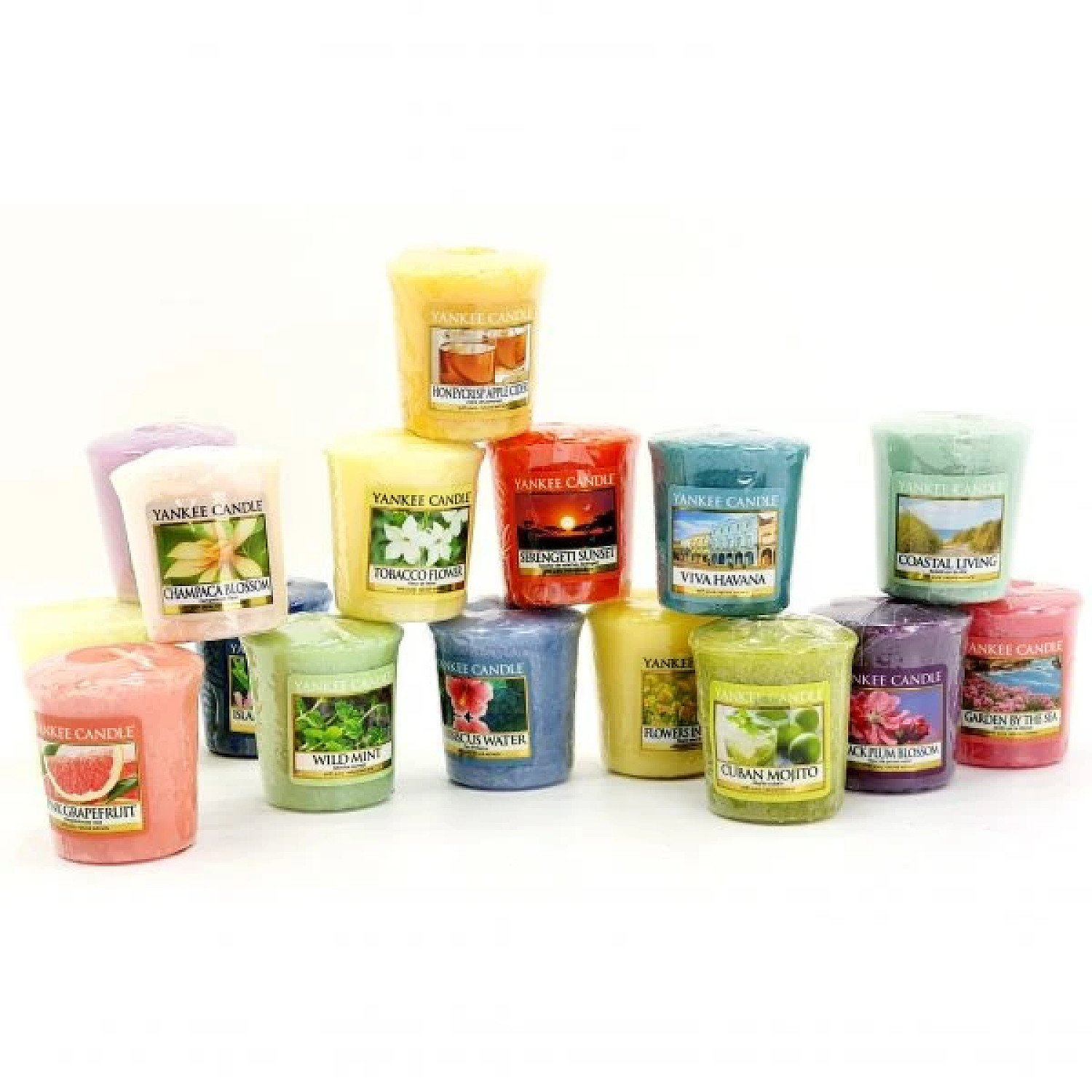 12 ASSORTED SPRING SUMMER CLASSIC VOTIVES Free Postage