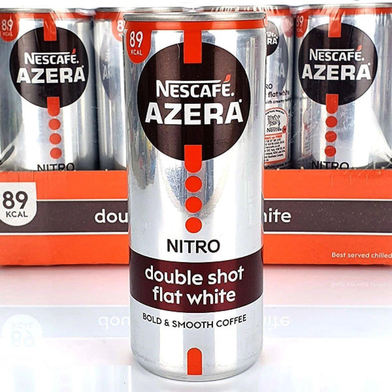 12 X NESCAFE AZERA ICED COFFEE DOUBLE SHOT FLAT WHITE 250ML DRINKS CANS Free Postage
