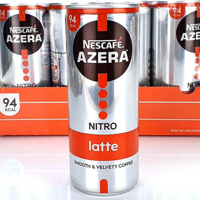 12 X NESCAFE AZERA ICED COFFEE LATTE 250ML DRINKS CANS Free Postage