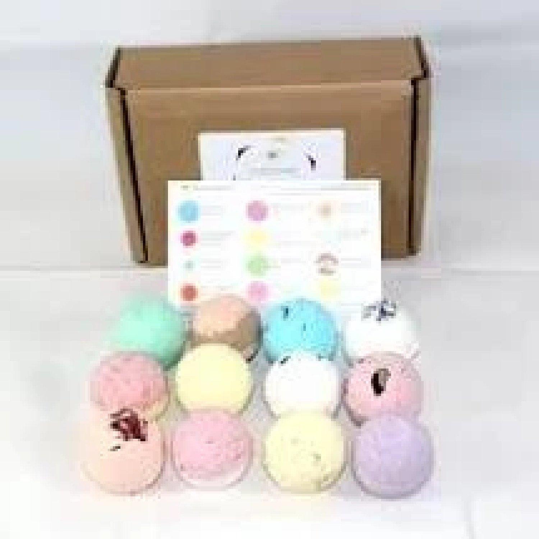 12pc Fizzy Bath Bombs Gift Set - 12 x 65g Free Postage