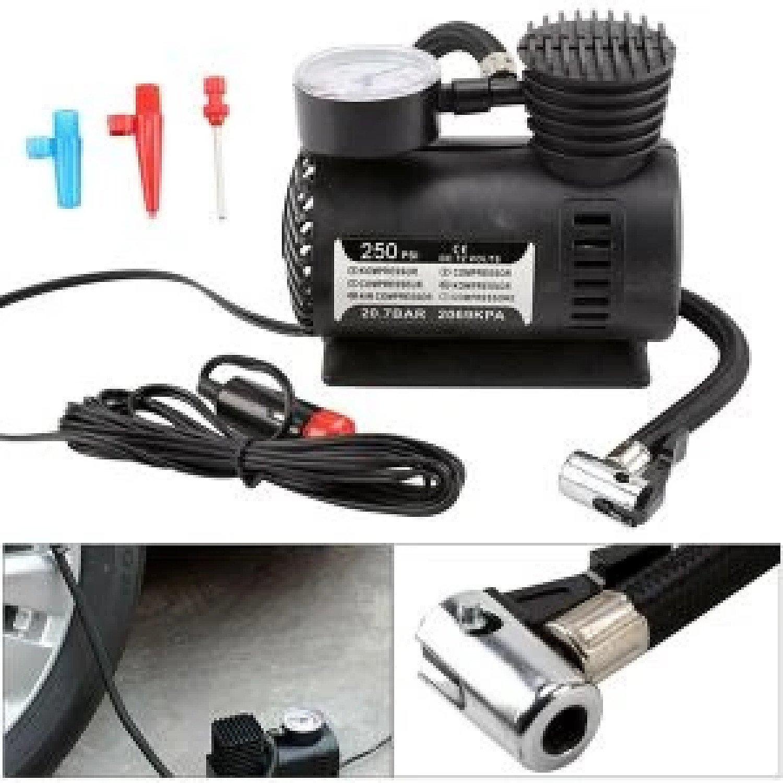 12V Portable Pump Bike Car Van Tyre Inflator Gauge Mini Air Compressor Airhose Free Postage